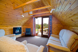 A 'Delta' lodge lounge area. Part of Forda Holiday Lodges and Cottages situated at Bude in Cornwall - close to the Devon border.