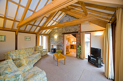 Stables Cottage lounge. Holiday accommodation with provision for disablements, near Bude close to the Cornwall border with Devon